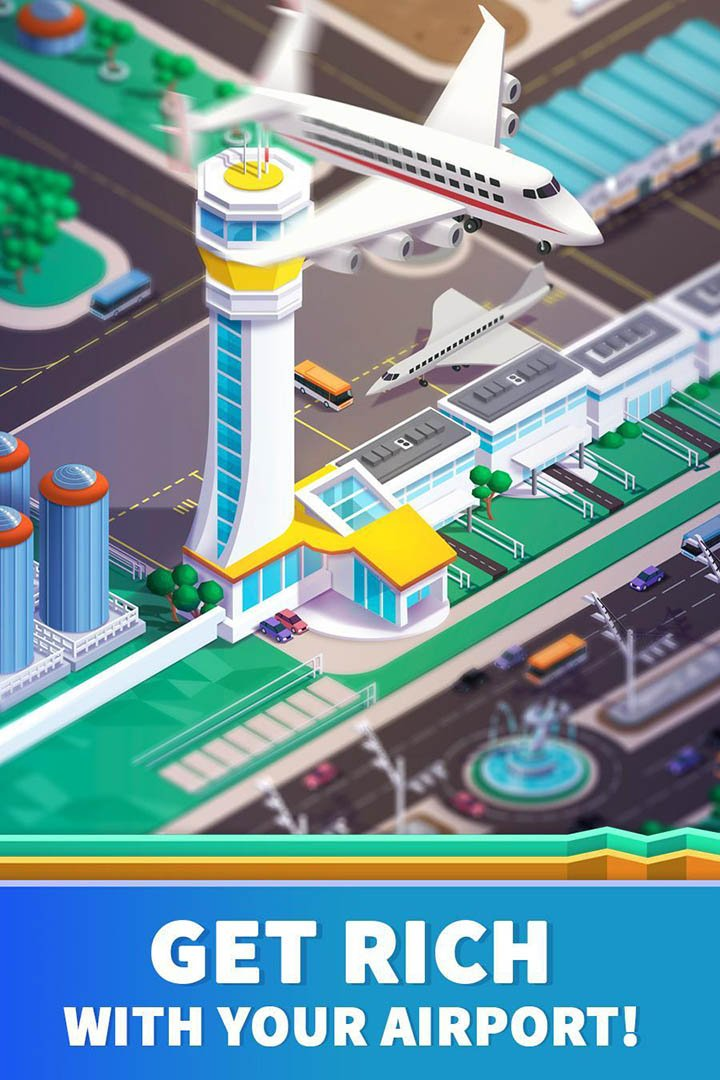 Idle Airport Tycoon screen 1