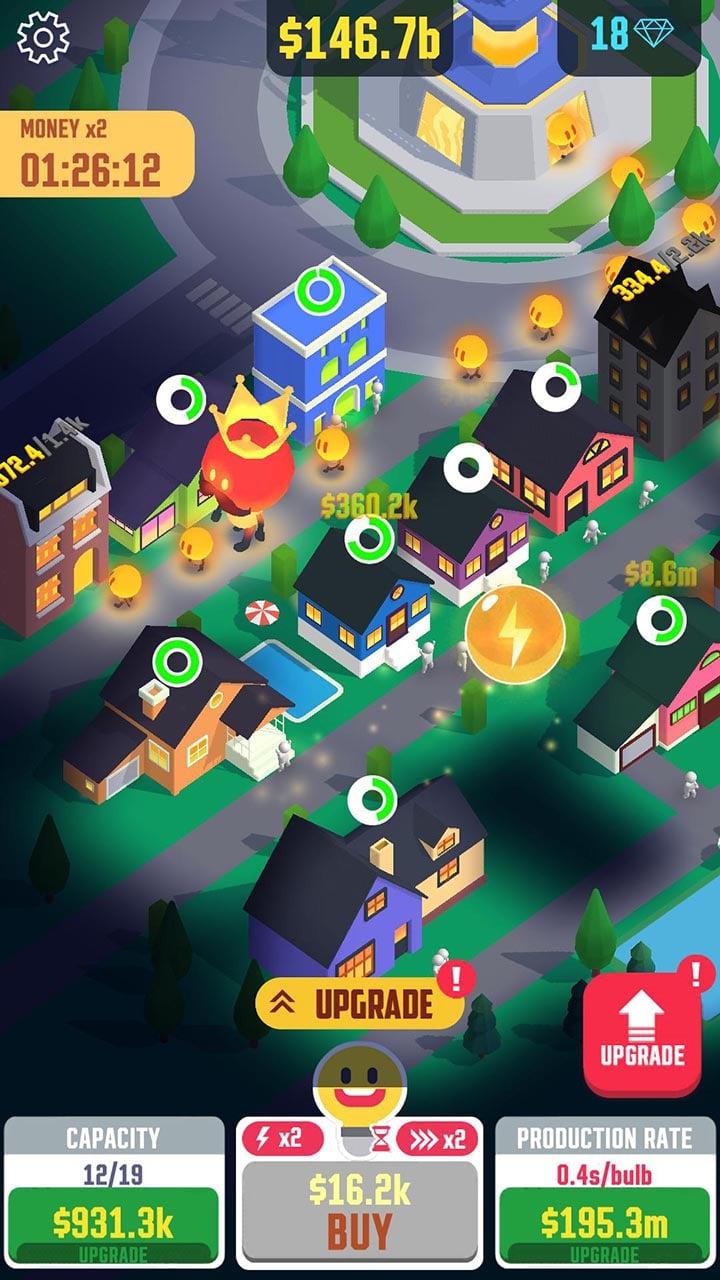 Idle Light City screen 2