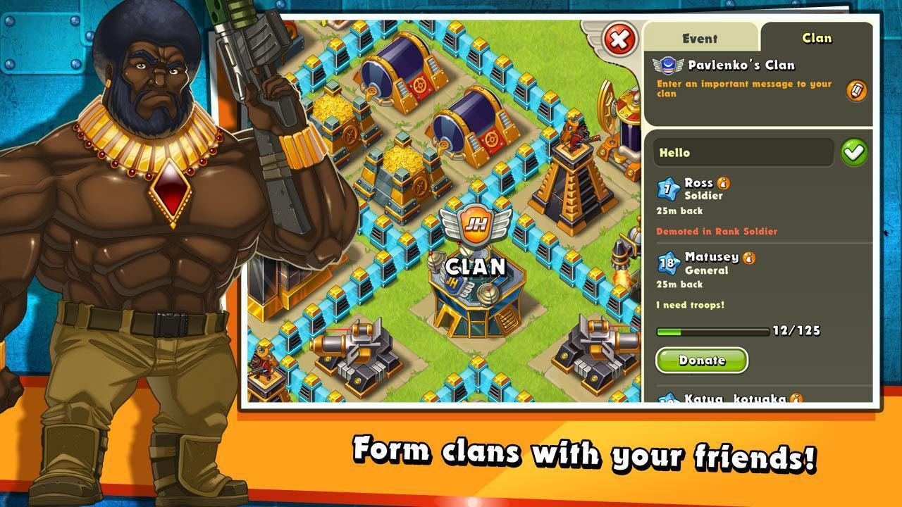 Jungle Heat War of Clans screen 1
