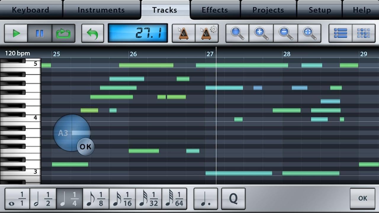 Music Studio screen 1
