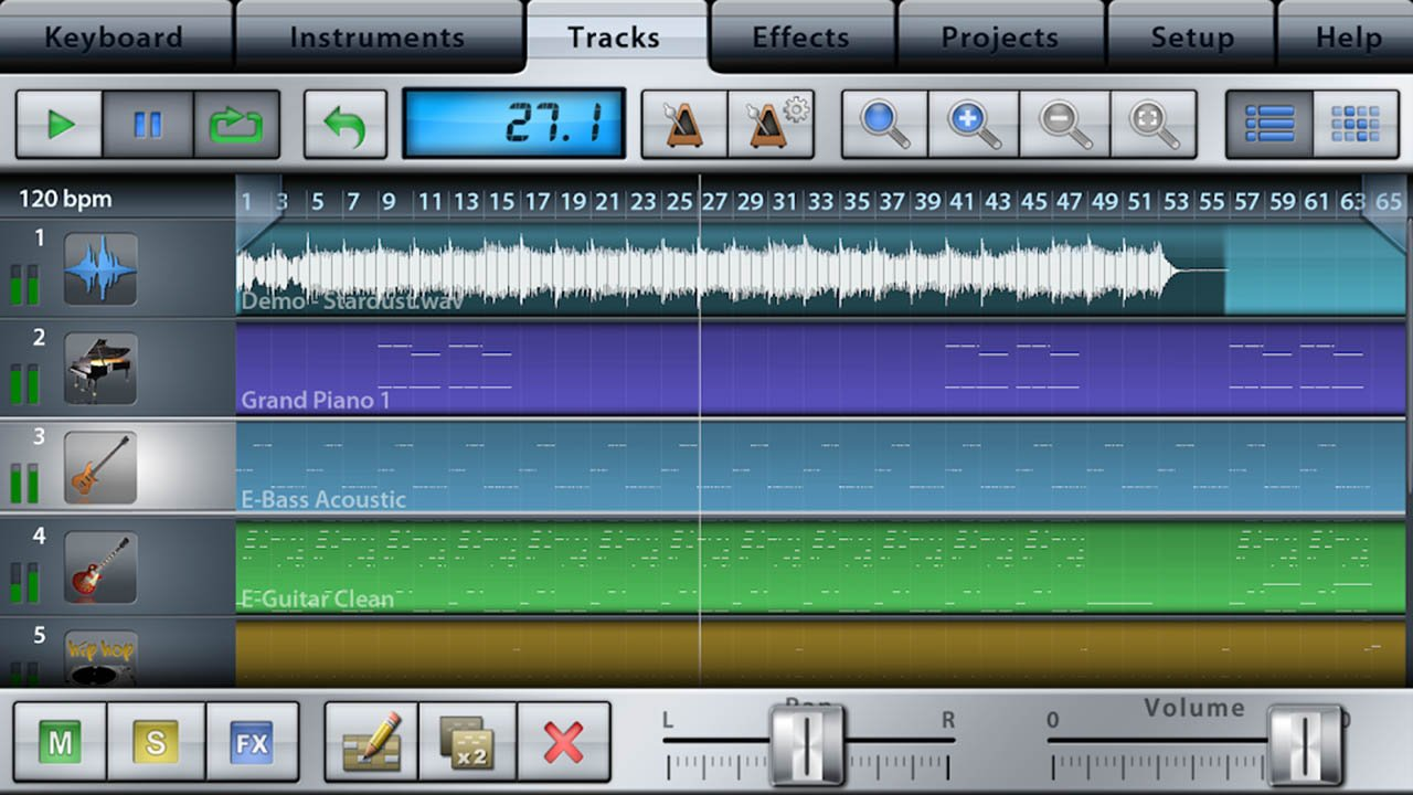 Music Studio screen 2