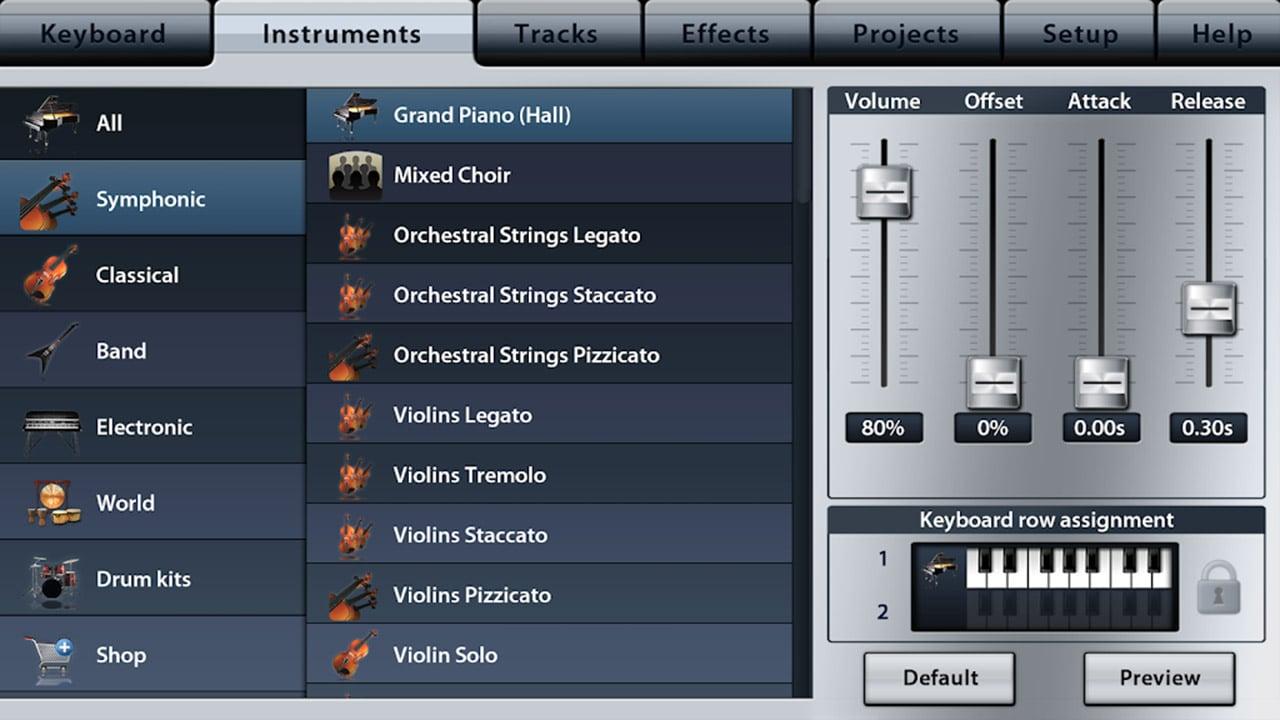 Music Studio screen 3