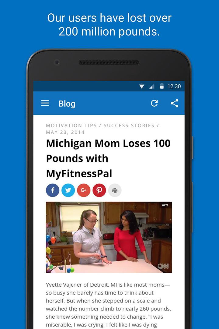 MyFitnessPal screen 4