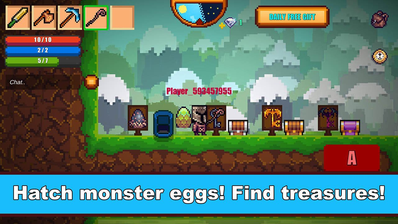 Pixel Survival Game 2 Screen 1
