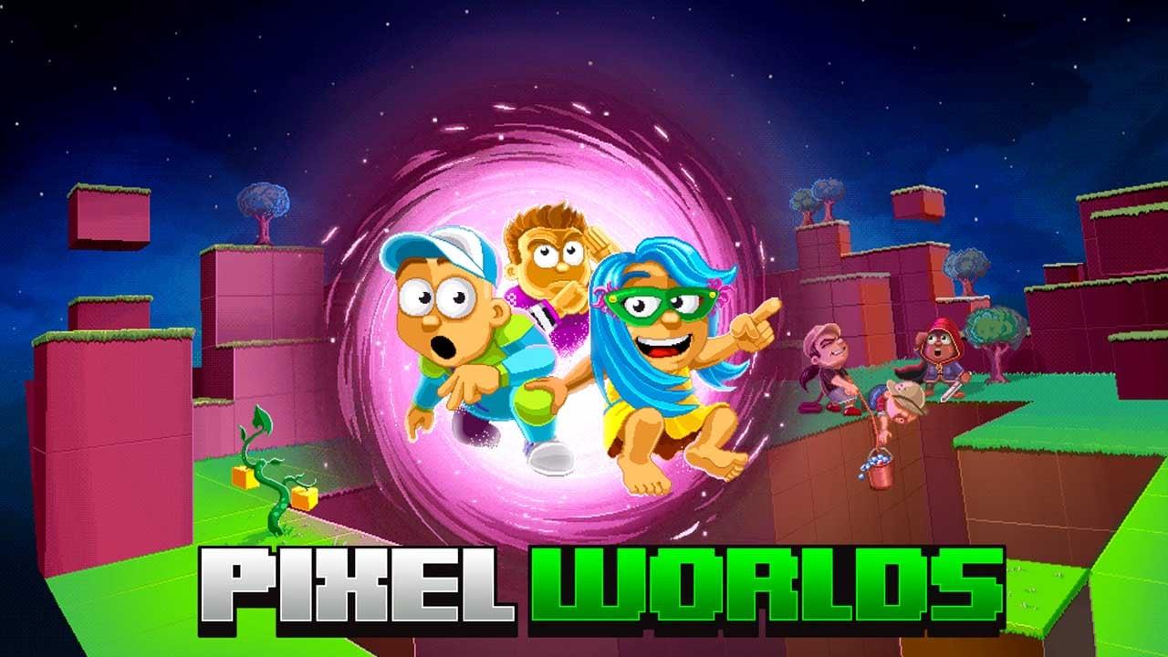 Pixel Worlds MMO Sandbox poster