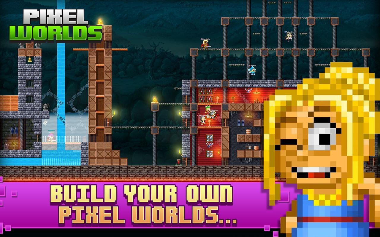 Pixel Worlds MMO Sandbox screen 3