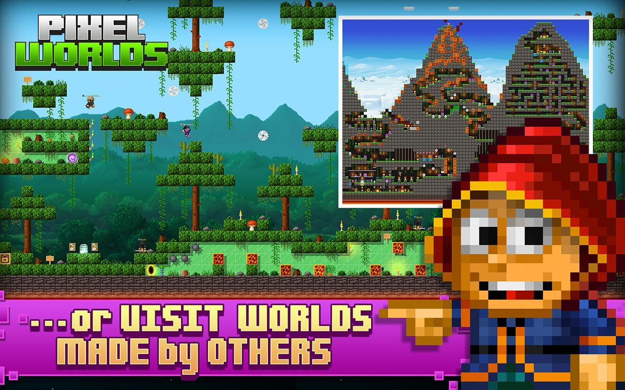 Pixel Worlds MMO Sandbox screen 4