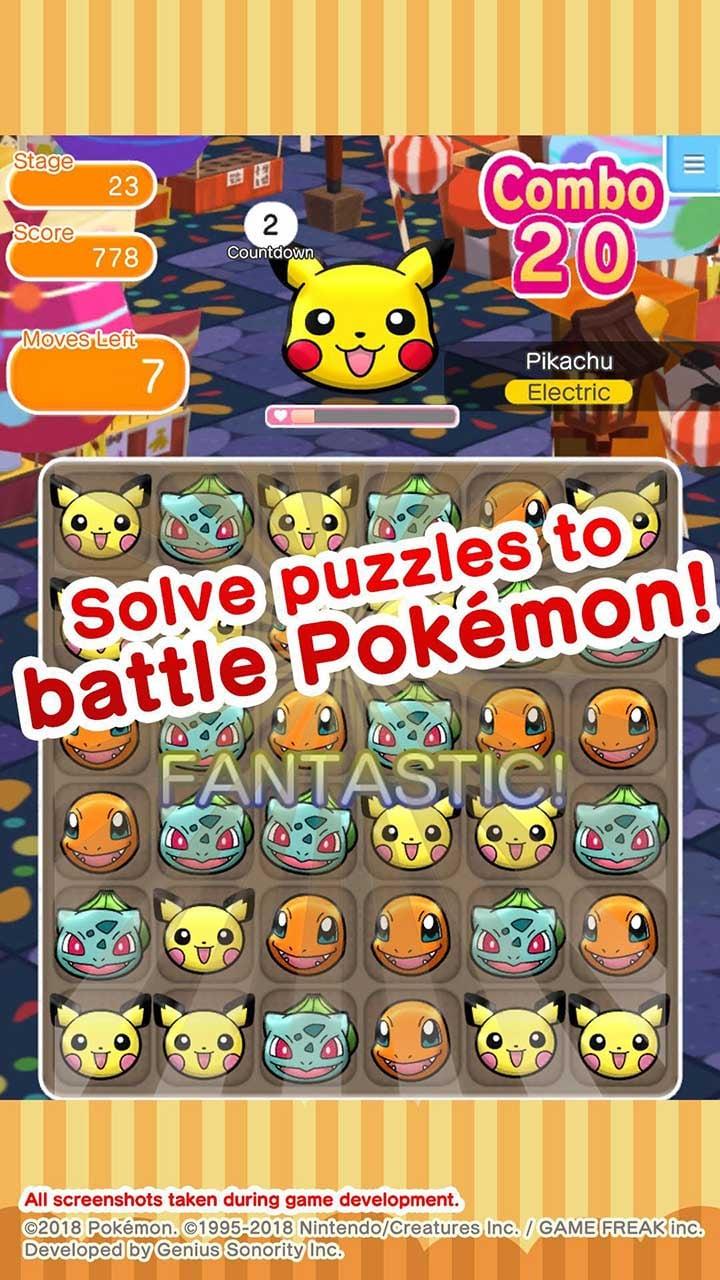 Pokémon Shuffle Mobile screen 1