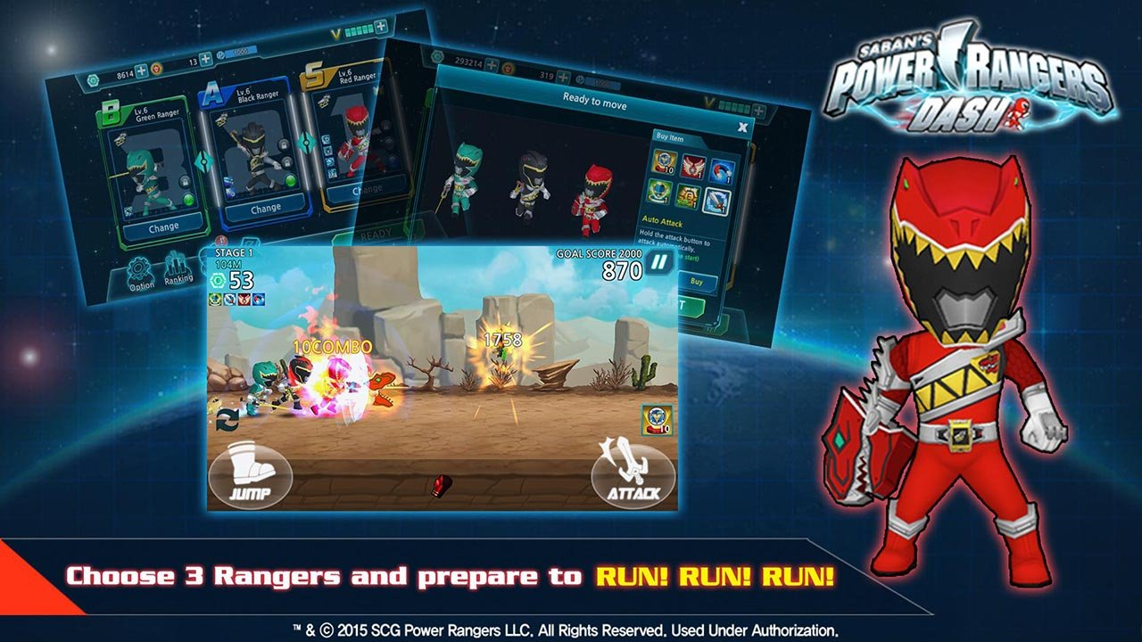 Power Rangers Dash screen 0