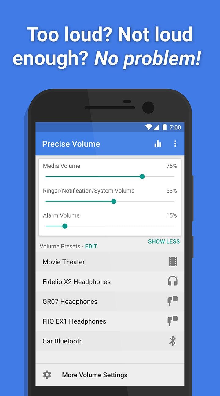 Precise Volume screen 0