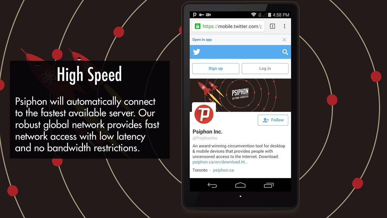 Psiphon Pro The Internet Freedom VPN screen 3