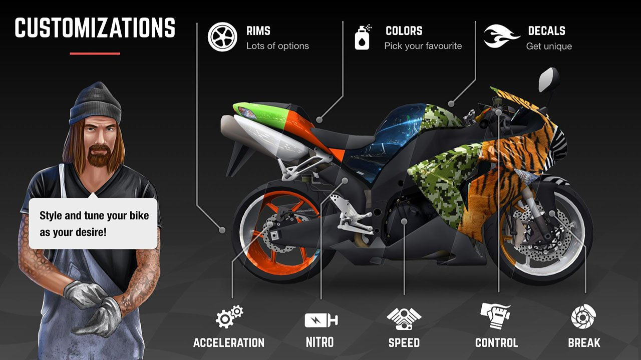 Racing Fever Moto screen 2