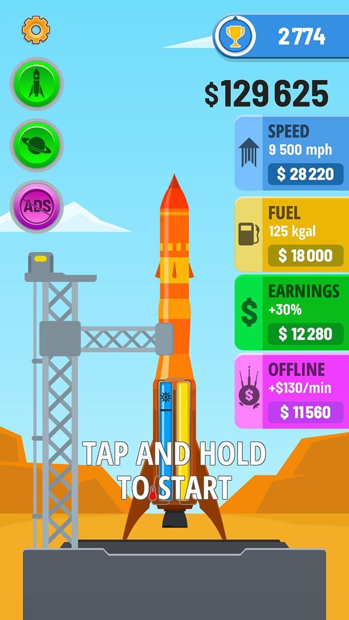 Rocket Sky screen 0