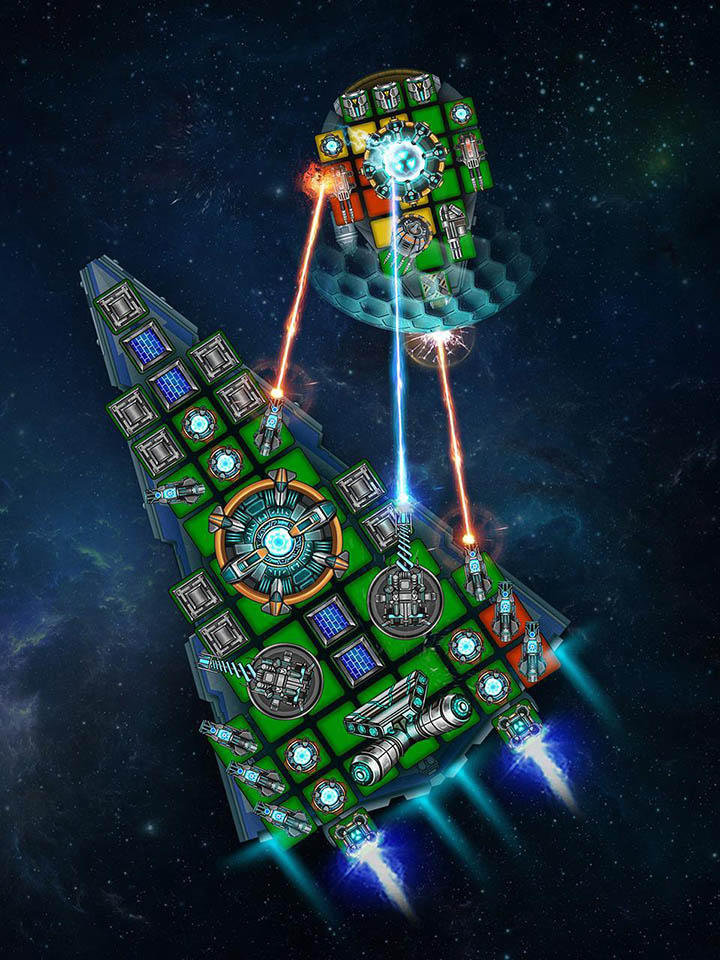 Space Arena Build a spaceship & fight screen 2
