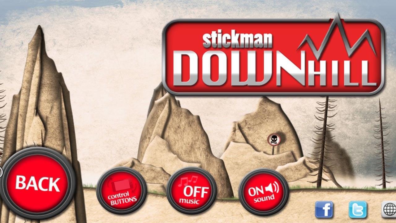 Stickman Downhill poster