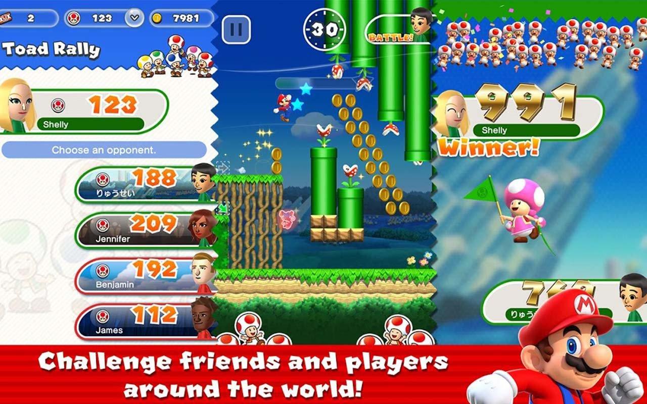 Super Mario Run screen 1