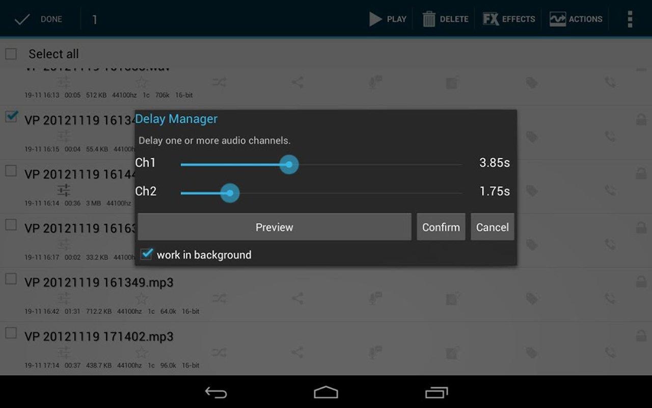 Voice PRO HQ Audio Editor screen 1