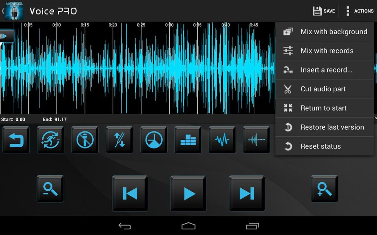 Voice PRO HQ Audio Editor screen 2