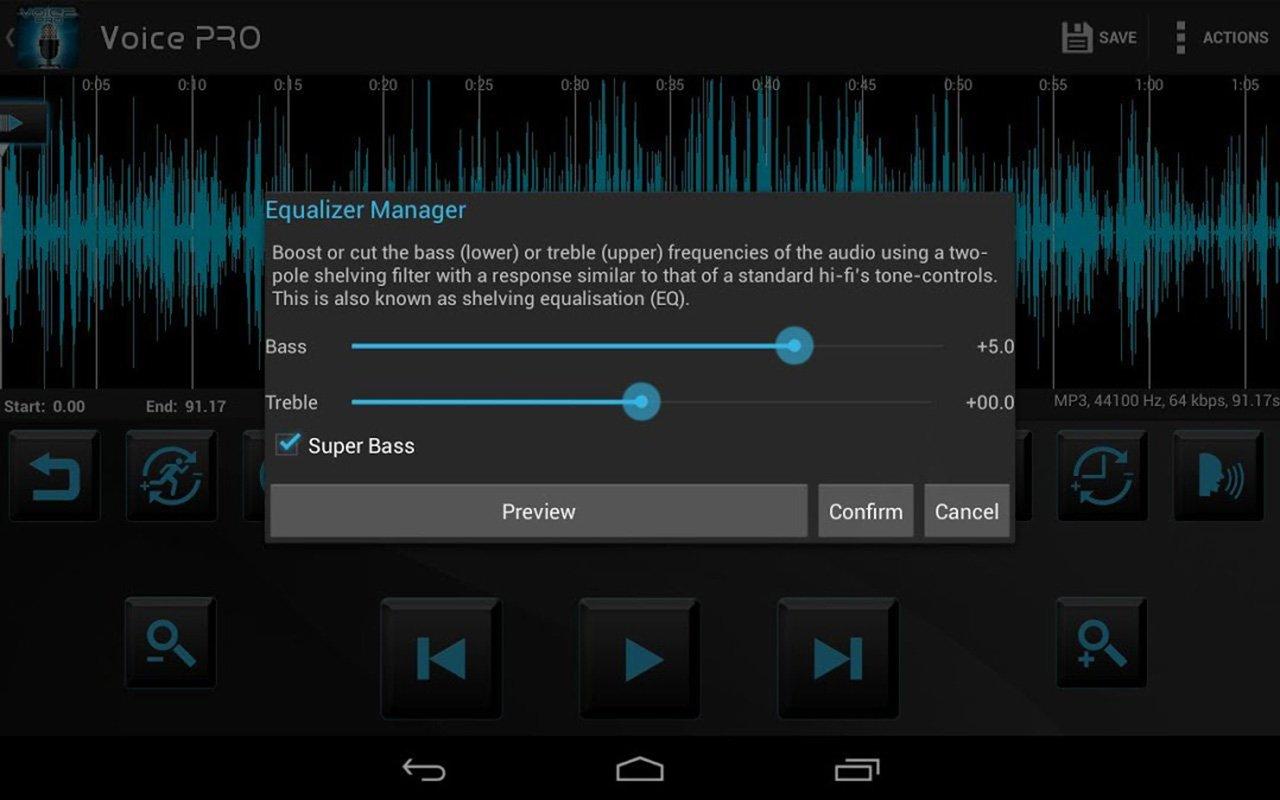 Voice PRO HQ Audio Editor screen 3