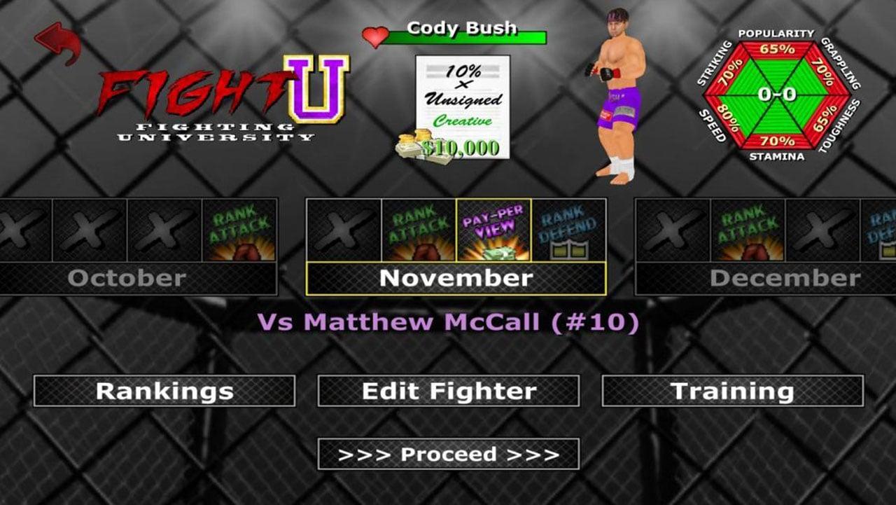 Weekend Warriors MMA screen 4