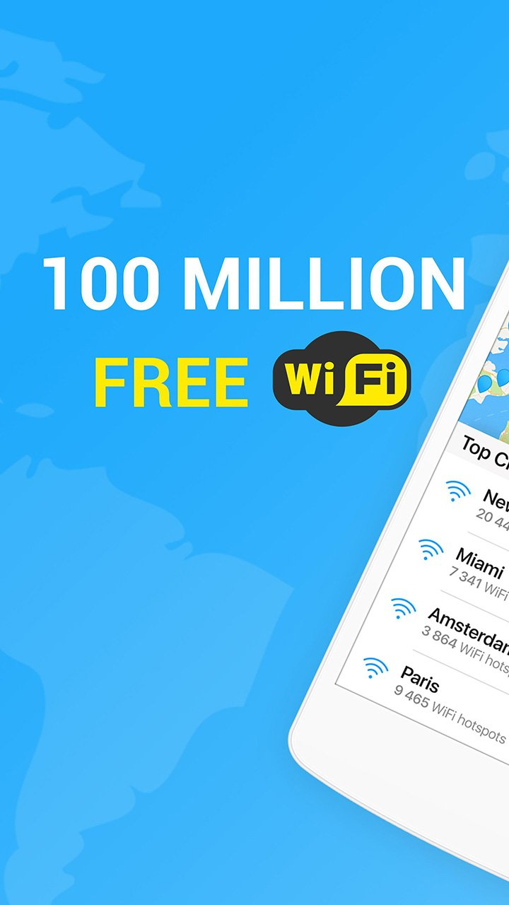 WiFi Map screen 1