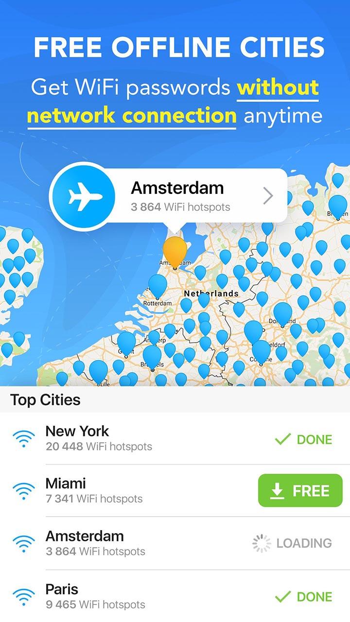 WiFi Map screen 3