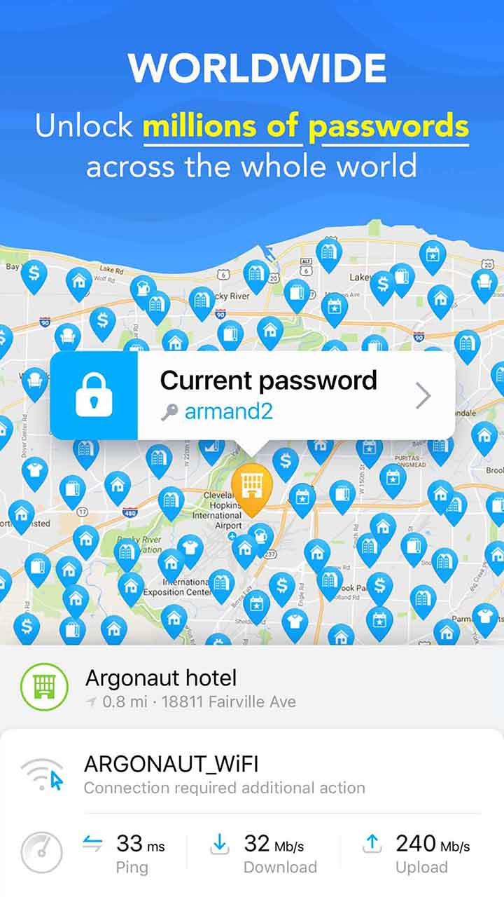 WiFi Map screen 5