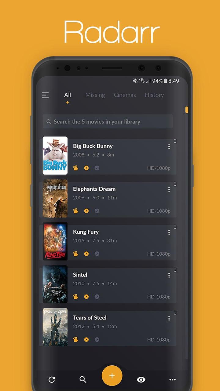 Nzb360 screen 1