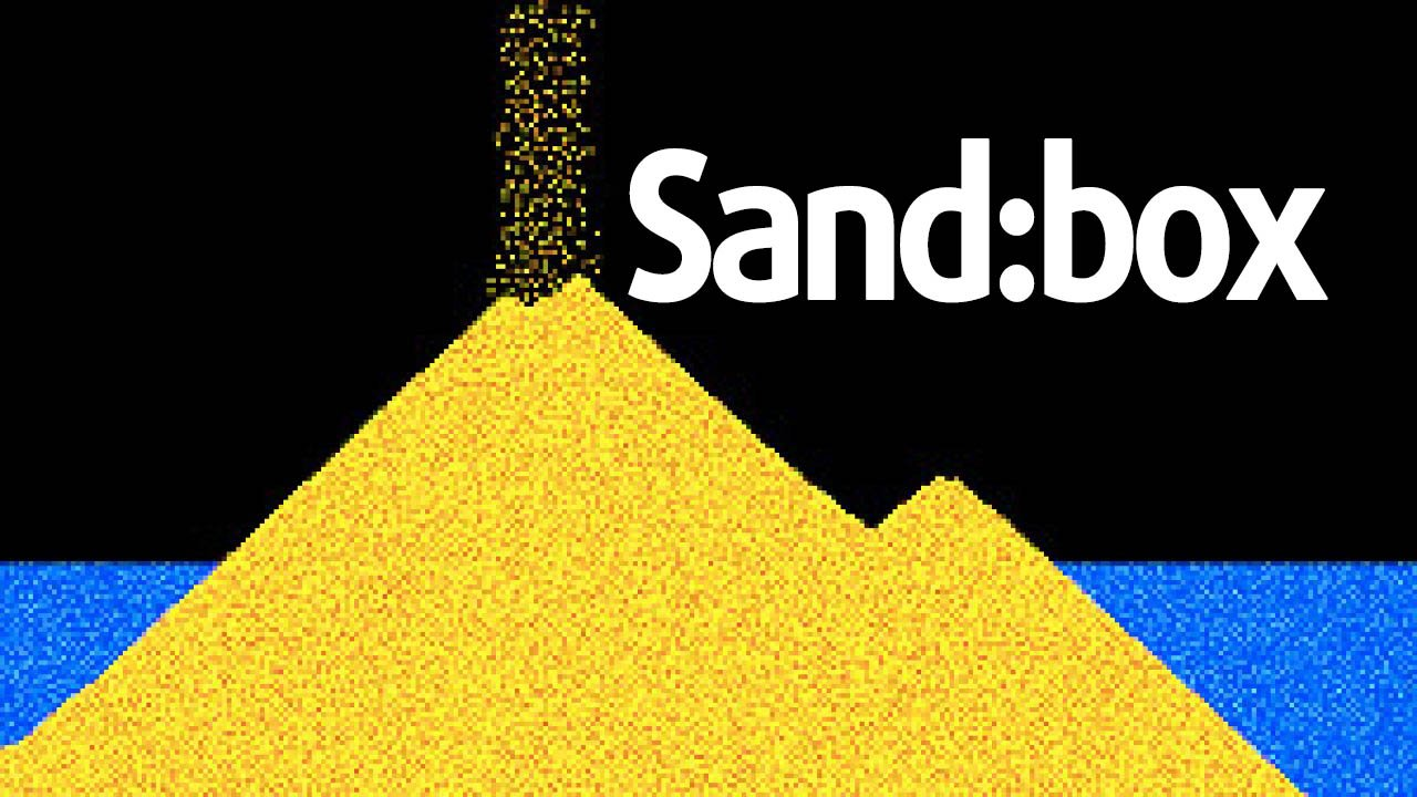 sand box relaxing particle engine poster