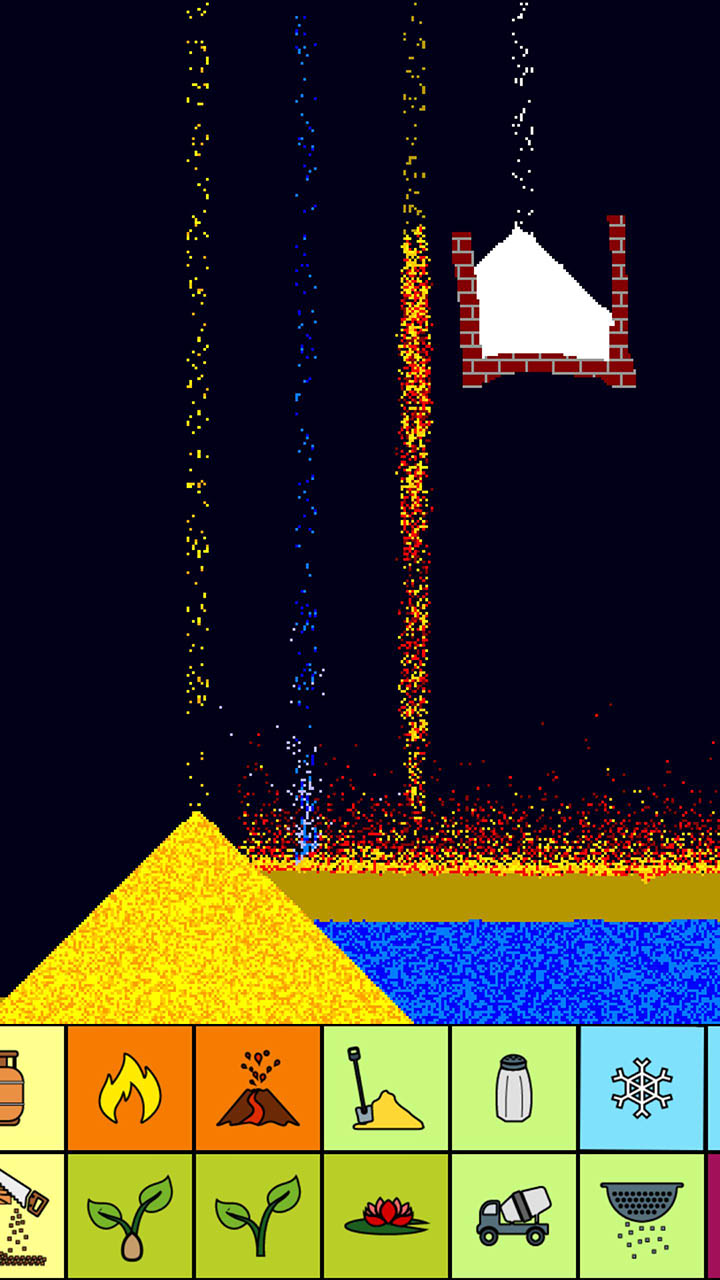 sand box relaxing particle engine screen 1