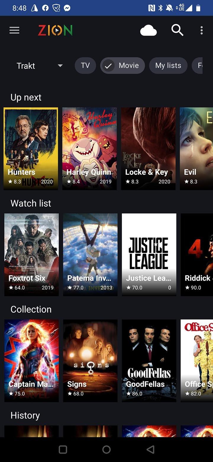 TVZion app screenshot 1