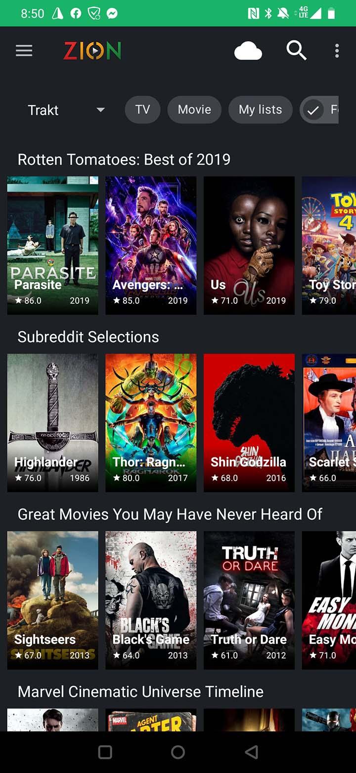 TVZion app screenshot 2
