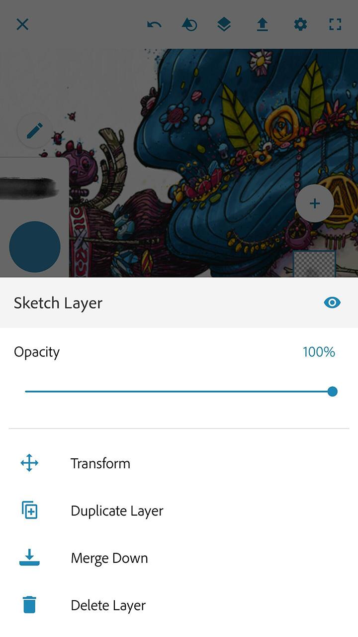 Adobe Photoshop Sketch screen 2
