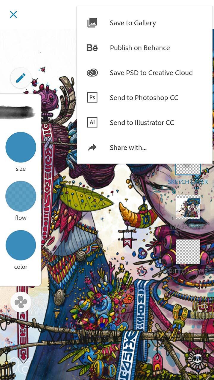 Adobe Photoshop Sketch screen 3