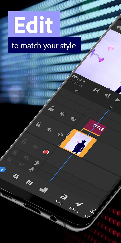 Adobe Premiere Rush screen 1