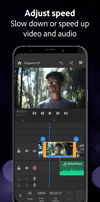 Adobe Premiere Rush screen 3