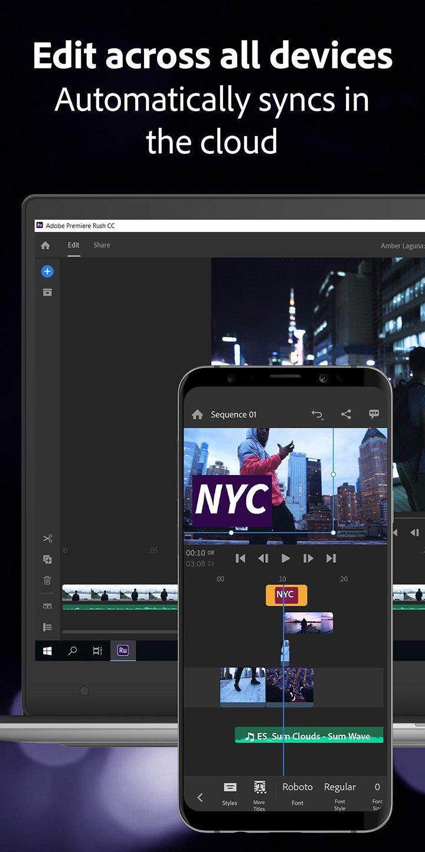 Adobe Premiere Rush screen 5