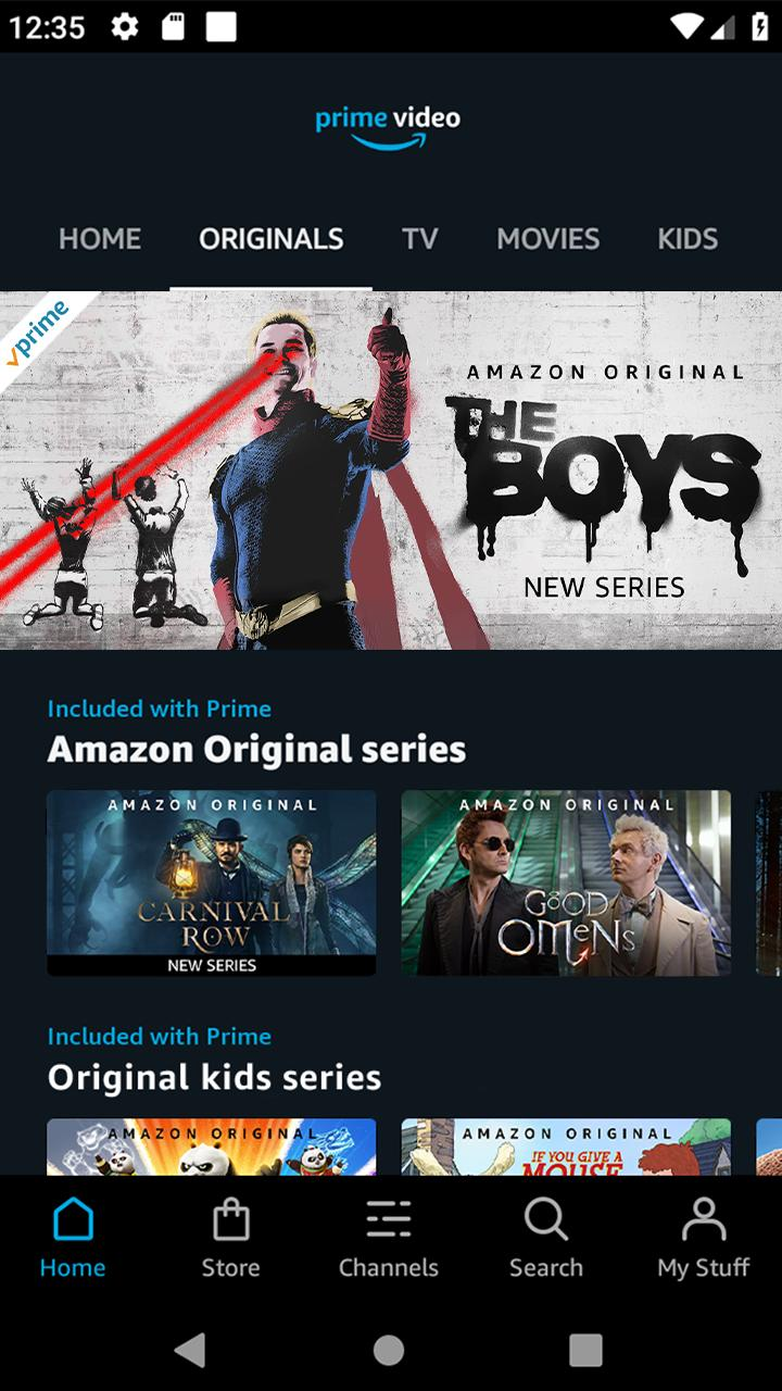 Amazon Prime Video screen 0