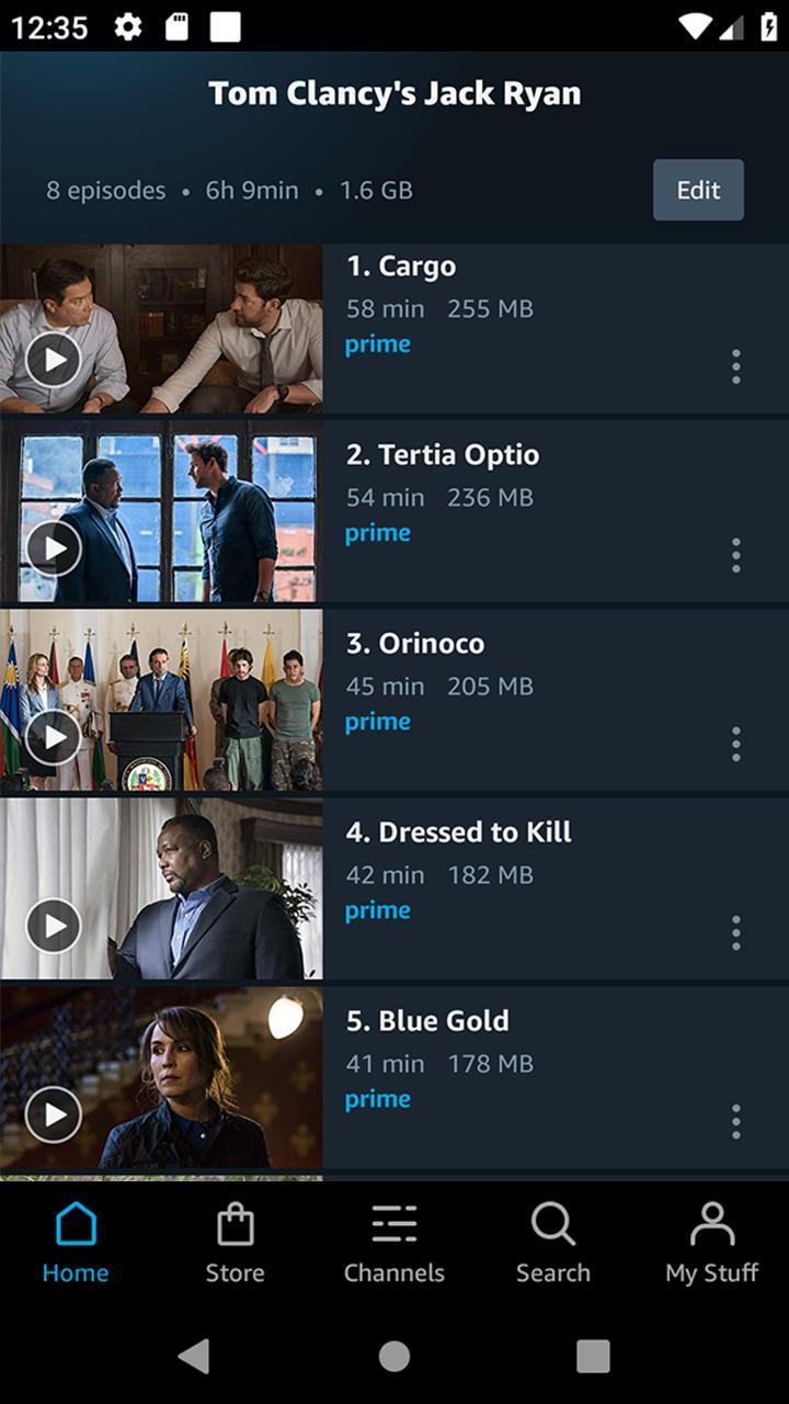 Amazon Prime Video screen 2