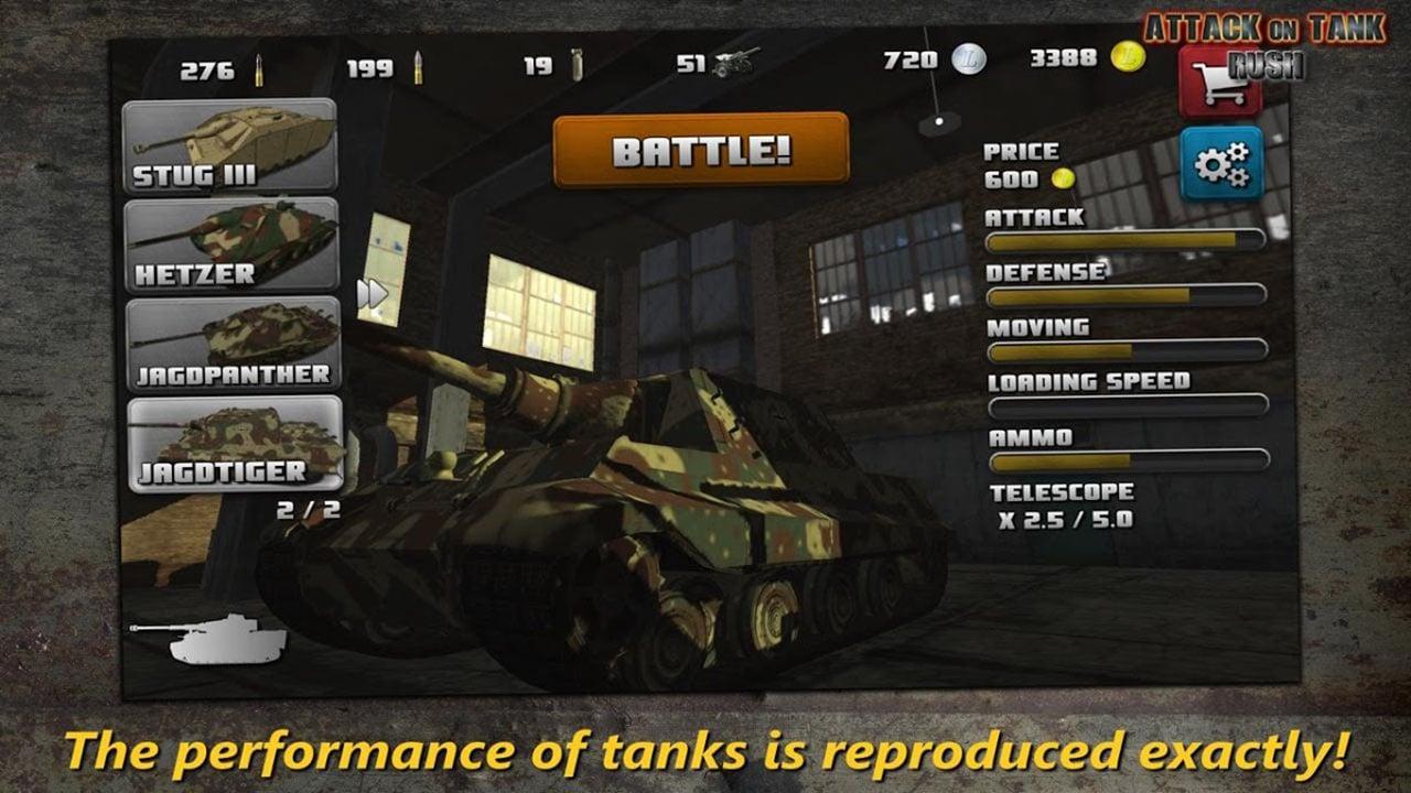 Attack on Tank Rush screen 2