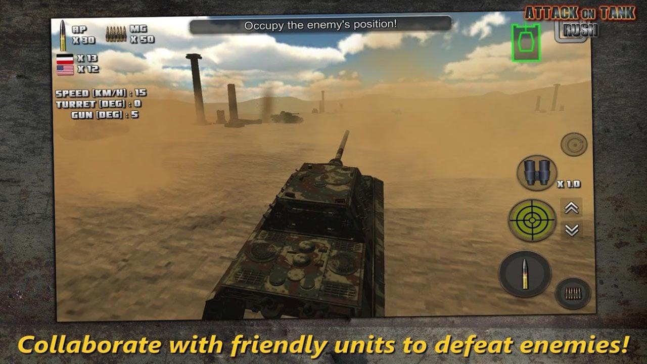 Attack on Tank Rush screen 3