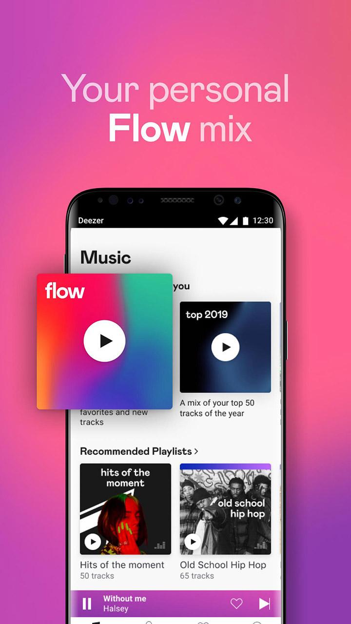 Deezer Music Player screen 1
