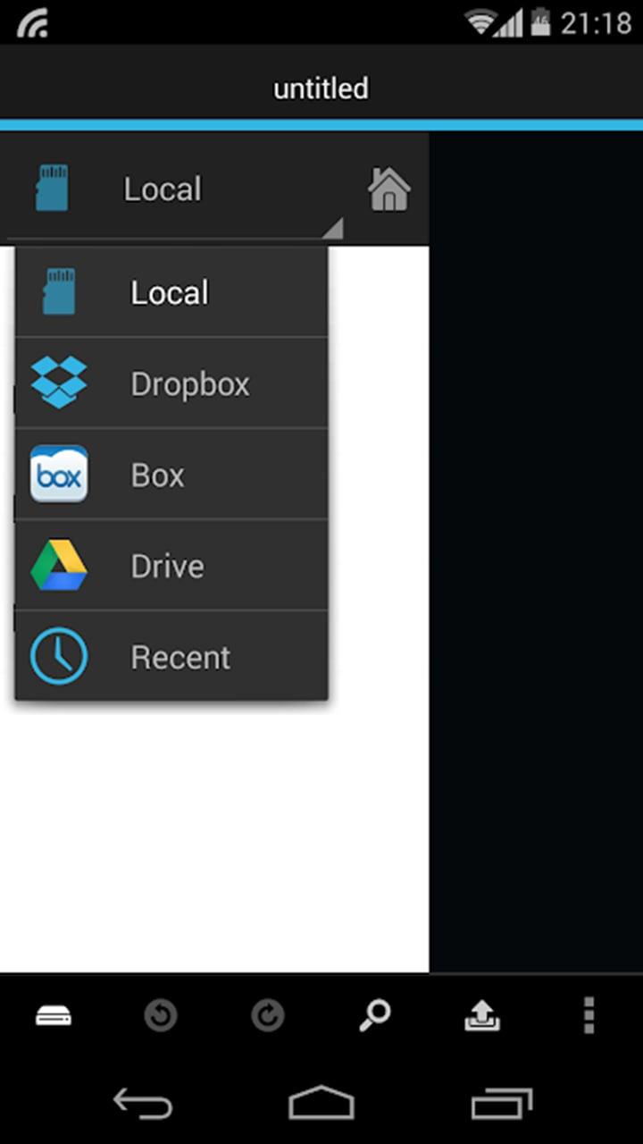 DroidEdit Pro screen 1