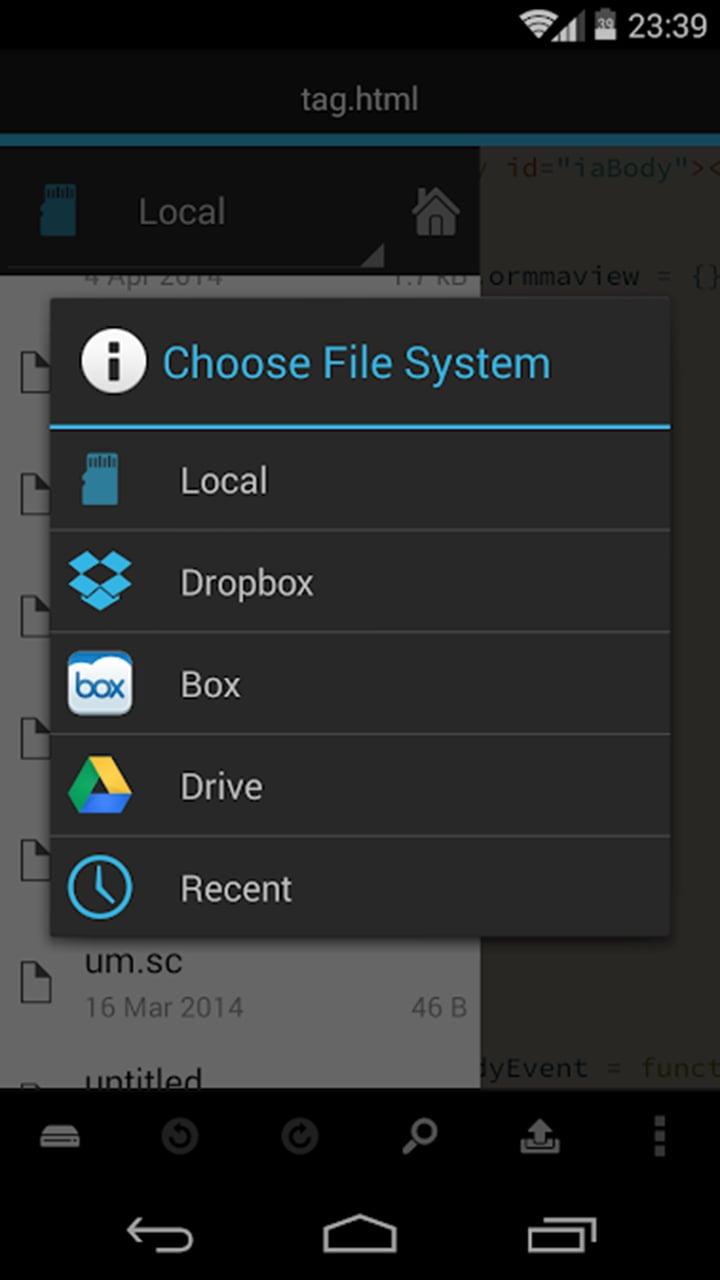 DroidEdit Pro screen 3