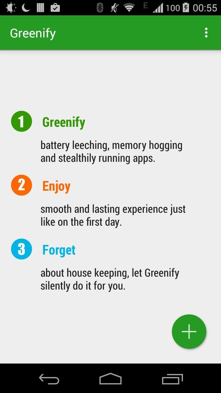 Greenify screen 0