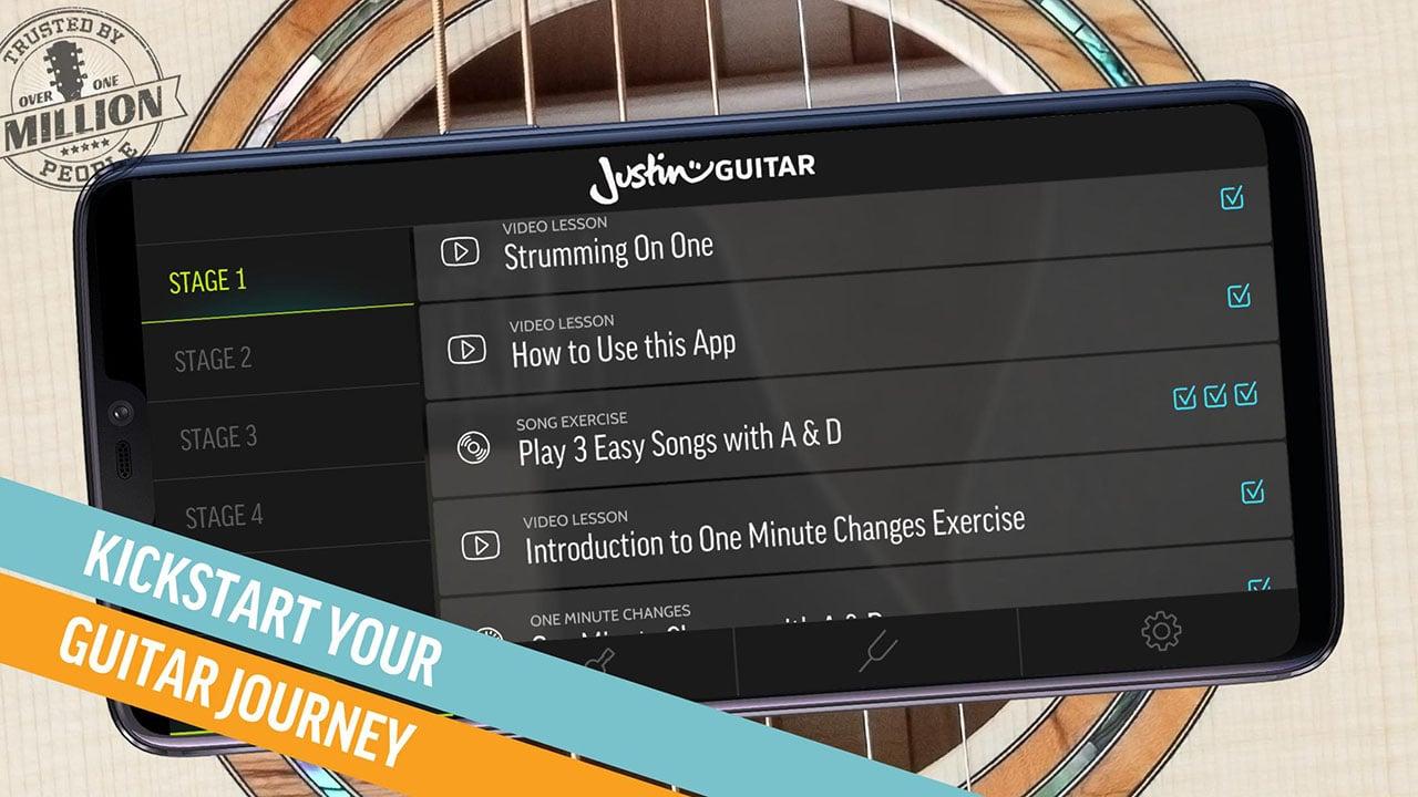 Justin Guitar Beginner Lessons Play Real Songs screen 0
