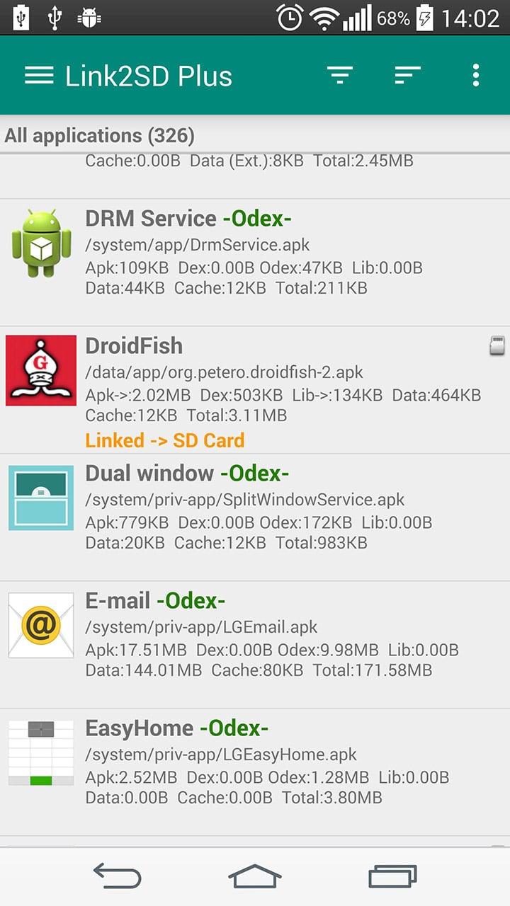 Link2SD screen 0