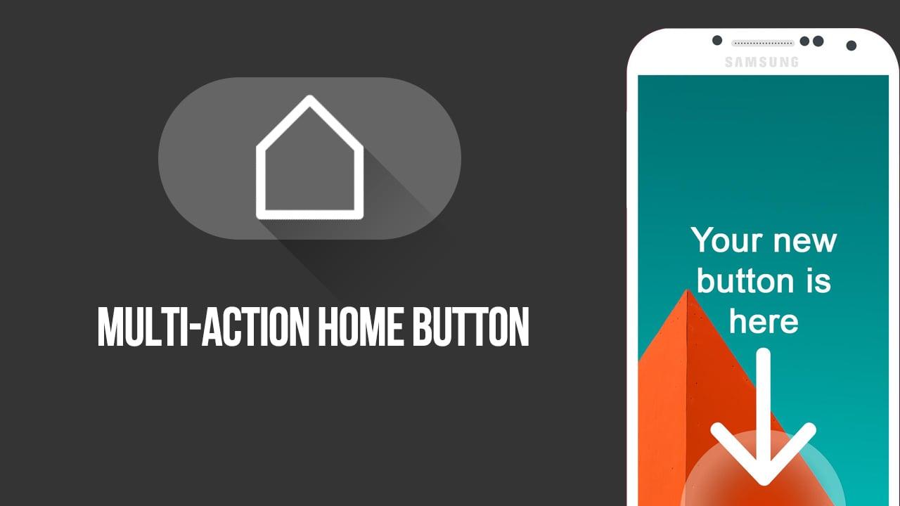 Multi action Home Button posterMulti action Home Button poster
