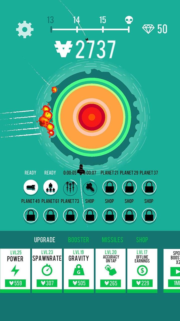Planet Bomber screen 2