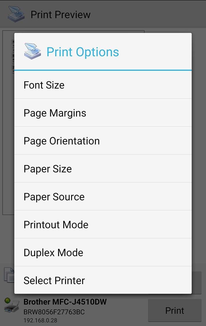 PrinterShare Mobile Print screen 3